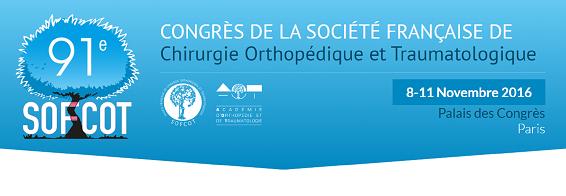 Congrès SOFCOT 2016 Du 8 au 11 novembre au palais des congrès de Paris